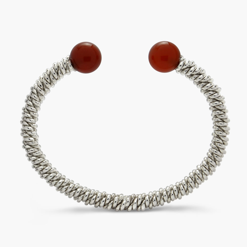 David Jonns Carnelian Torsione Torc Bangle