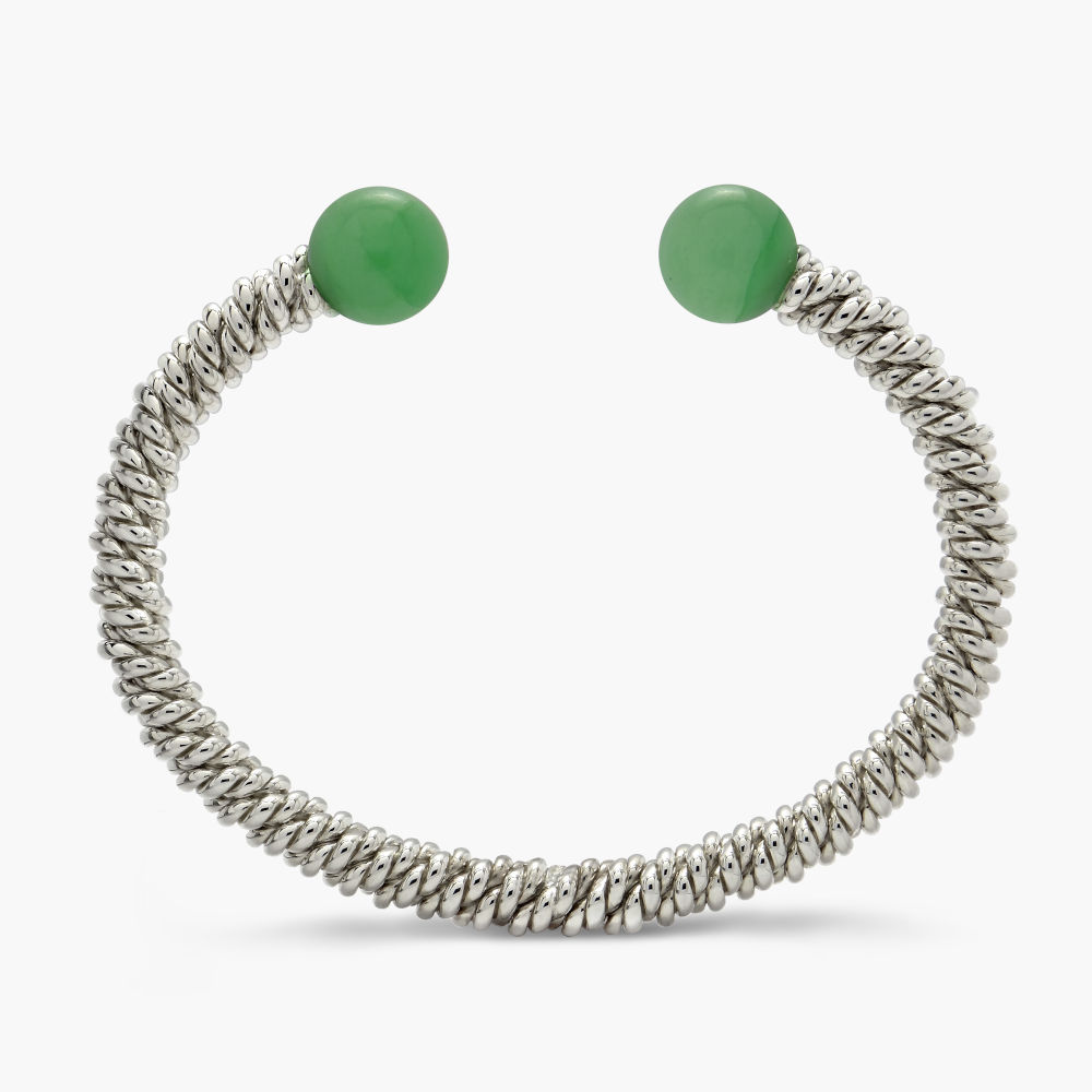 David Jonns Jade Torsione Torc Bangle