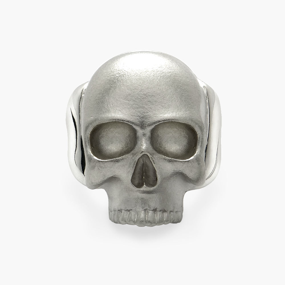 David Jonns Mens Silver Skull Ring