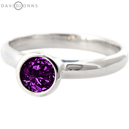 David Jonns Amethyst CZ Stack Ring