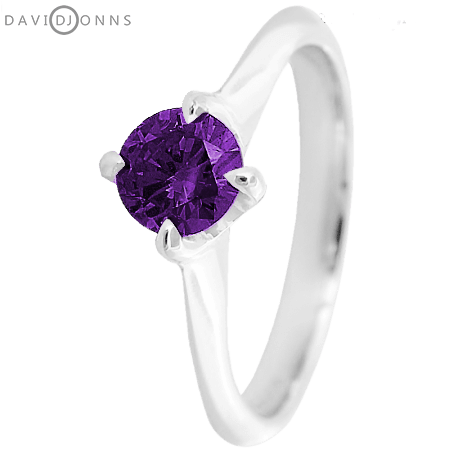 David Jonns Amethyst CZ Talon Ring