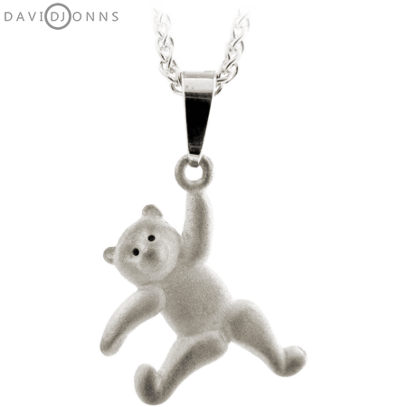 Dancing Teddy Bear Pendant Left