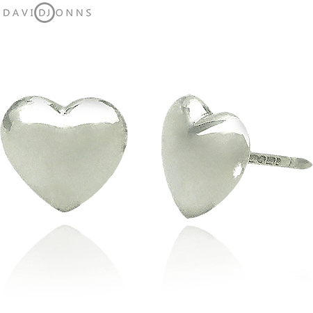 Heart Stud Earrings In Sterling Silver  48b9a1d8c9a1