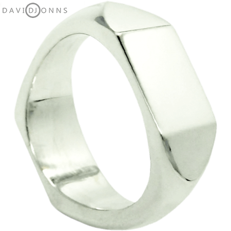 David Jonns Midi Double Geo Signet Ring