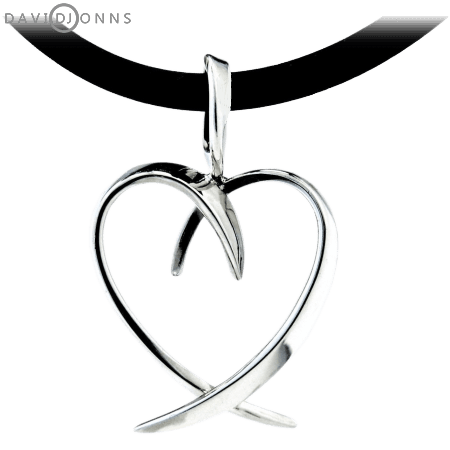 David Jonns Open Heart Mobius Pendant