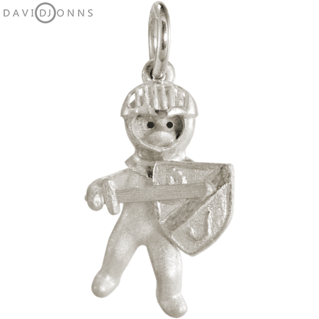 Teddy Bear Knight Charm