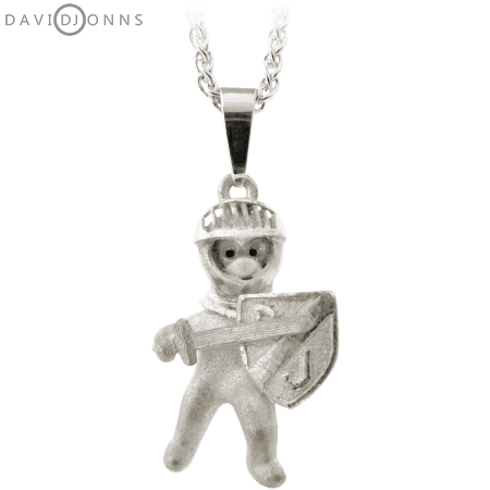 David Jonns Teddy Bear Knight Pendant