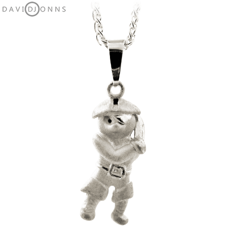 David Jonns Teddy Bear Pirate Pendant