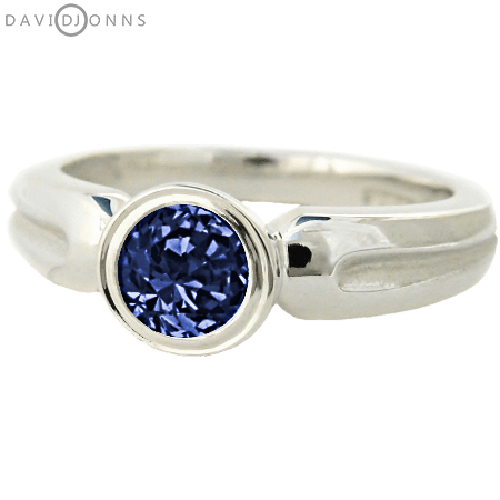 David Jonns Topaz CZ Roman Ring