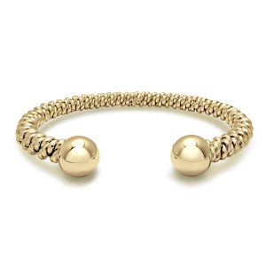 Gold Torsione Torc Bangle