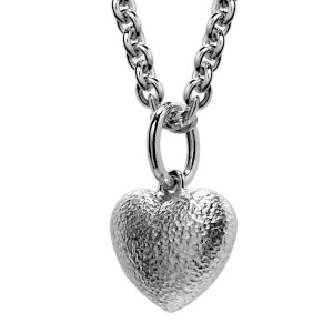 Silver Puffed Heart Pendant