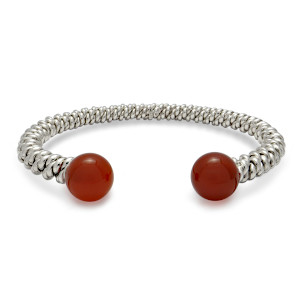 Carnelian Torsione Torc Bangle
