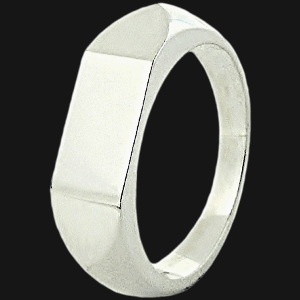 Midi Single Geo Signet Ring