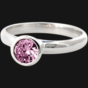 Pink Sapphire CZ Stack Ring