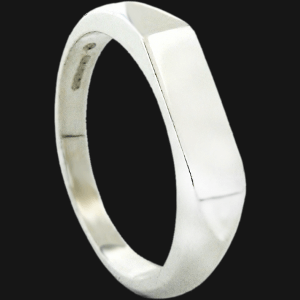 Slim Single Geo Signet Ring