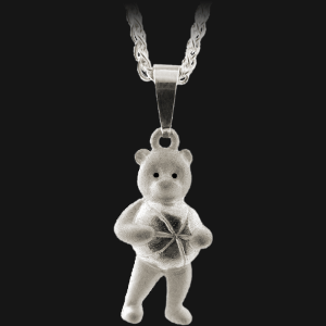 Teddy Bear Ball Pendant