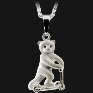 Teddy Bear Scooter Pendant